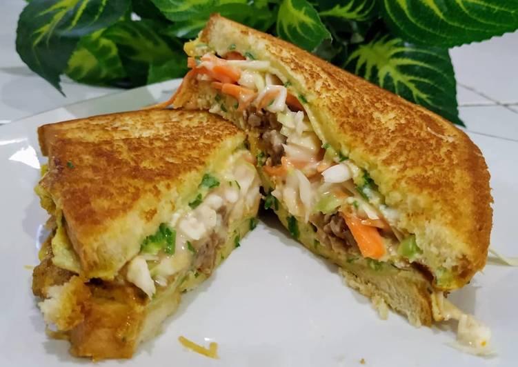Resep Sandwich ala Roti John Bikin Ngiler