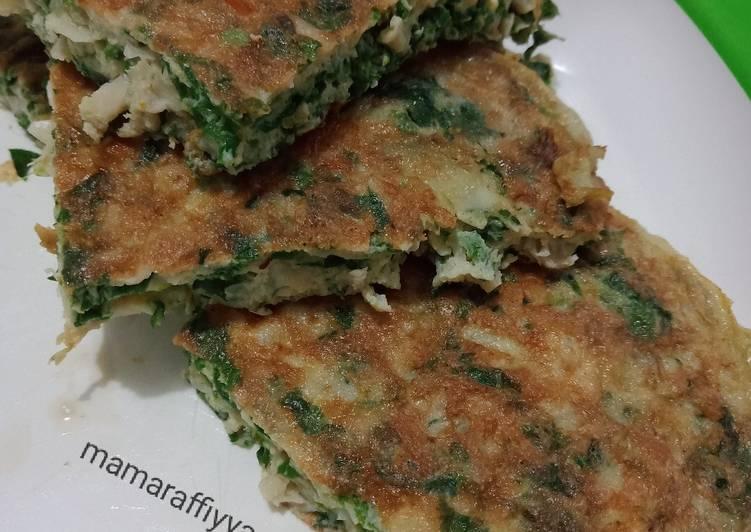 Omelette jamur sayur