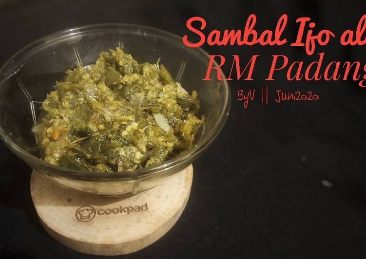 Sambal Ijo ala RM Padang #Week4