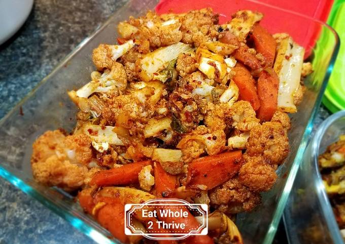 Spicy roasted cauliflower 韩式辣花菜