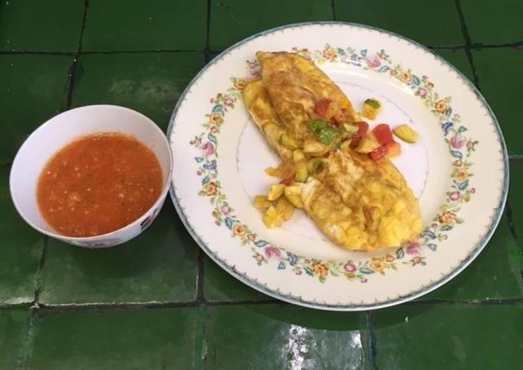 Omelette de Calabacitas