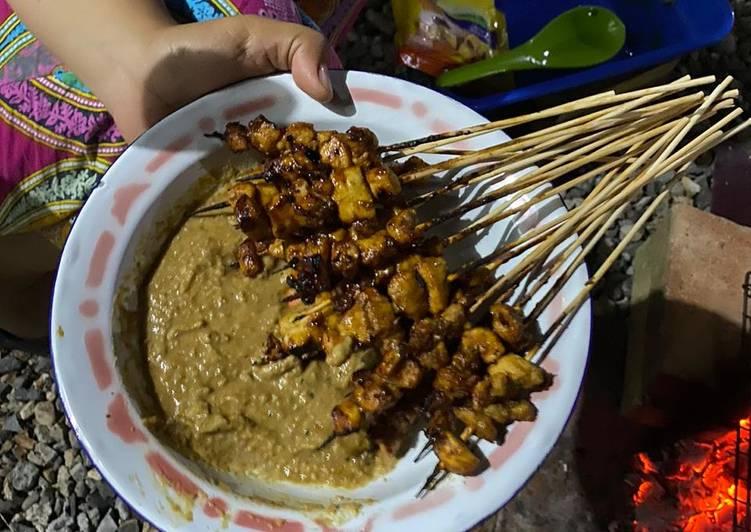 Sate ayam kuah kacang - cookandrecipe.com