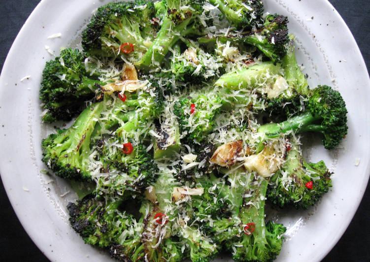 Pan-fried Garlic Chilli Broccoli