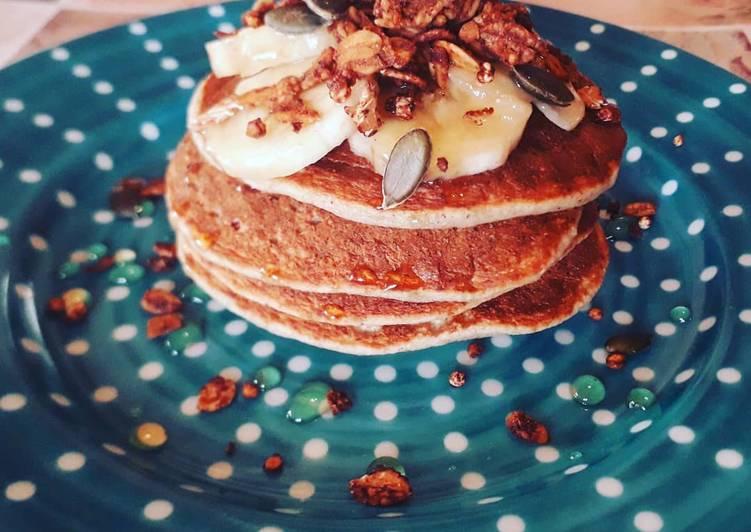 Banana pancake 🍌🥞👩🏻🍳 (vegetariani)
