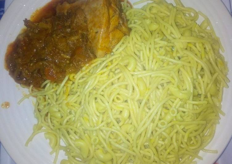 Step-by-Step Guide to Prepare Perfect Tumeric ginger spaghetti