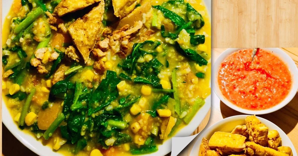 Bubur Manado / Tinutuan (in English & Indonesian language) Recipe ...