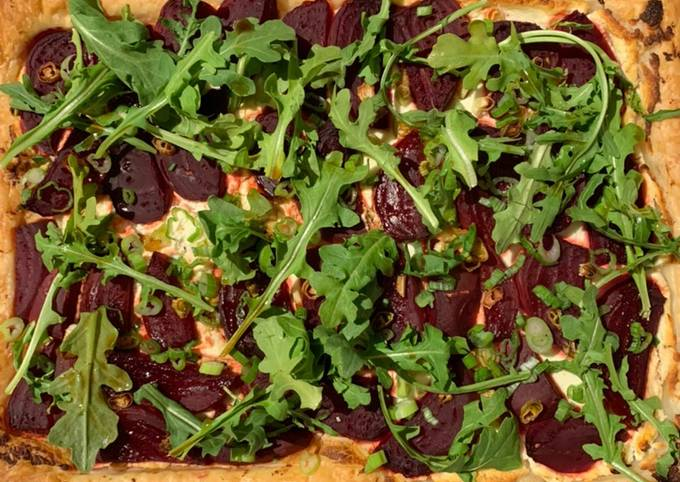 Beet and Goat Cheese Tart