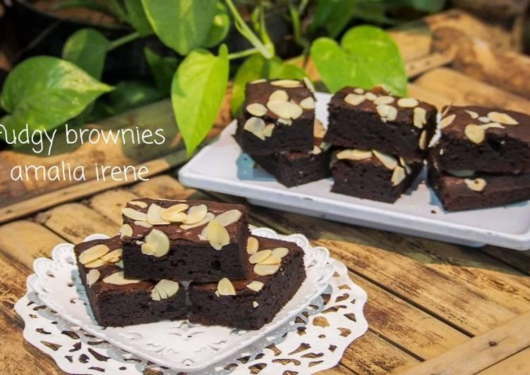Brownies chewy crust/fudgy brownies/brownies panggang