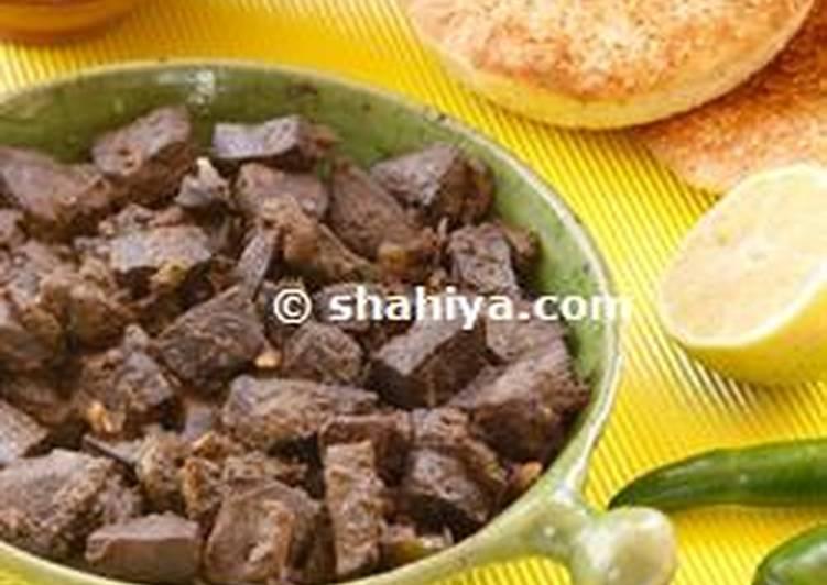Easiest Way to Prepare Perfect Kibda Iskandaraniya, Egyptian fried liver