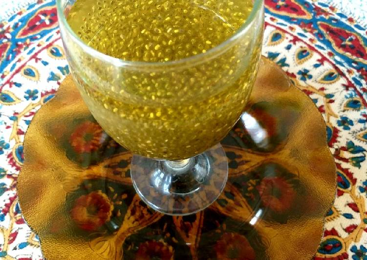 Chia seed and rose water saffron drink