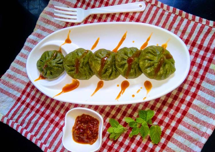 Recipe of Super Quick Homemade Palak paneer momos