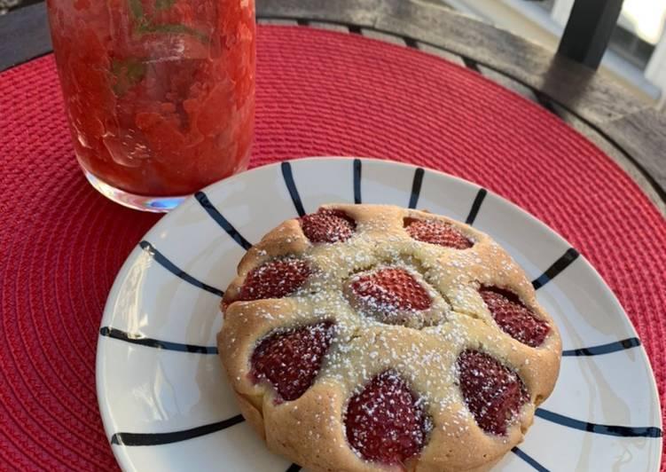 Recette Appétissante Gâteau aux fraises express