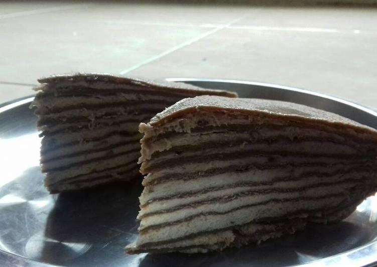 Choco banana mille crepes