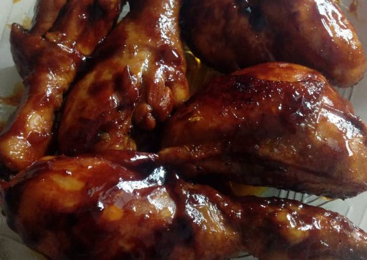 Ayam bakar teflon bumbu racik dan super simple