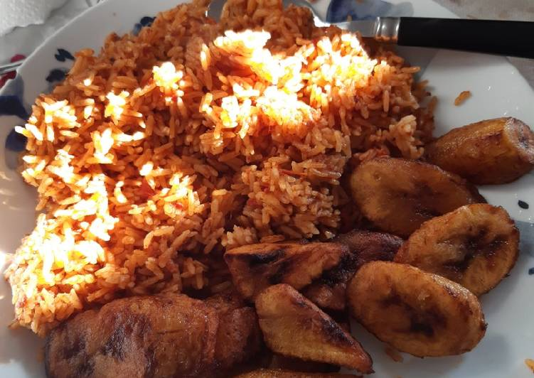 Information on How to Elevate Your Mood with Food Albby's authentic jollof rice