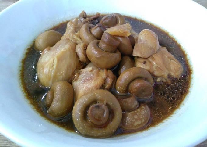 简易蘑菇酱油鸡 Simple Soy Sauce Chicken with Mushroom