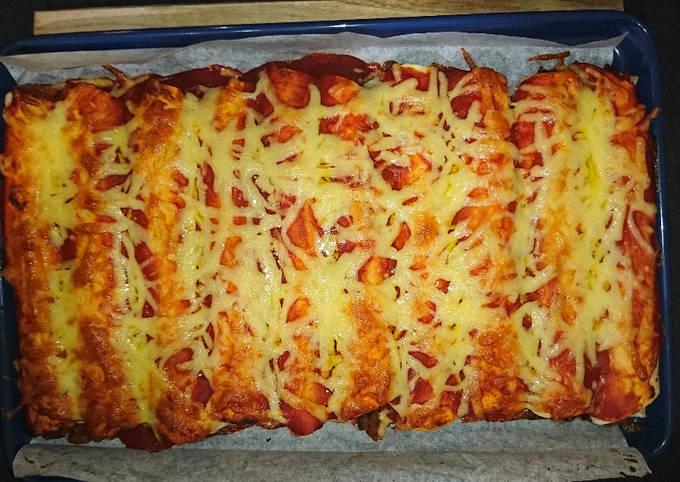 XXXX Hot Beef Enchiladas