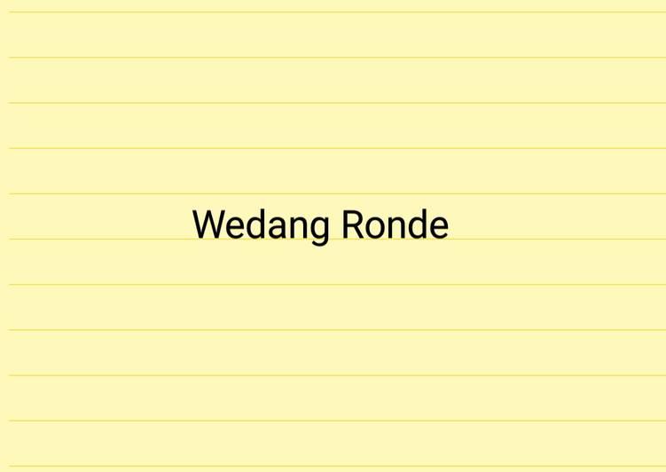 Traditional Wedang Ronde Drink (TasteMade)