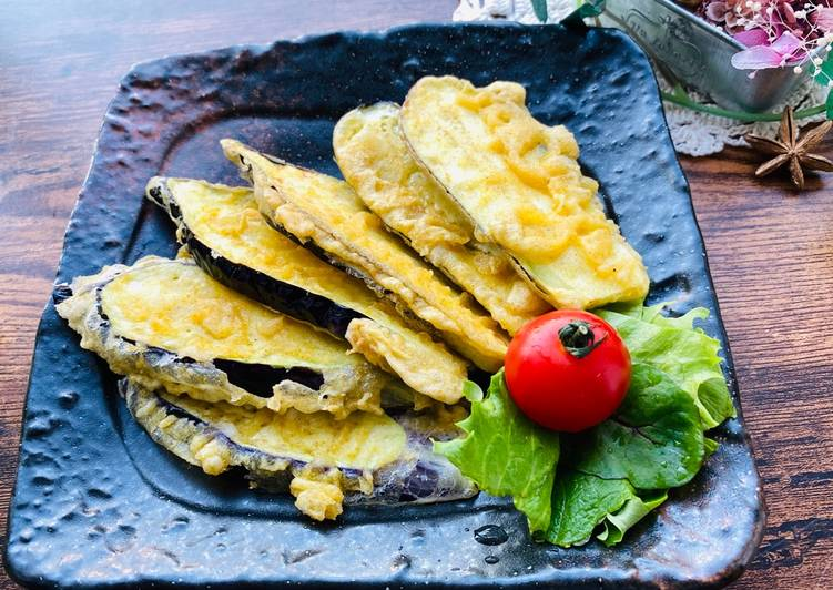 Easiest Way to Prepare Homemade Curry Eggplant Tempura