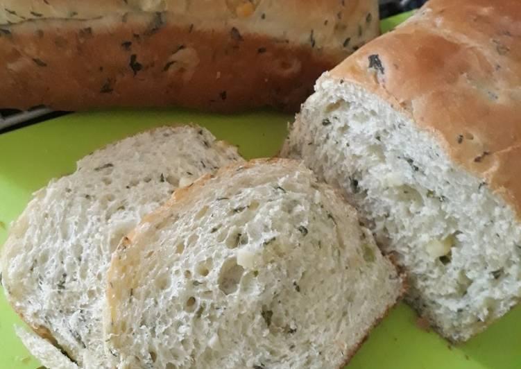 Roti bayam keju/spinach cheese bread
