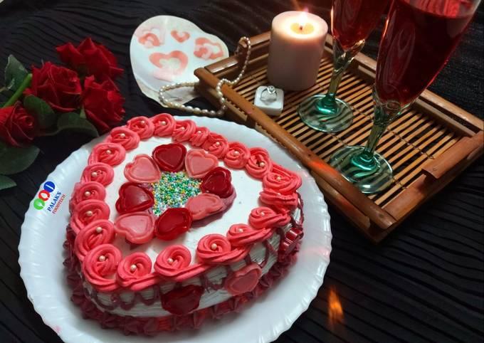 Valentines gift cake