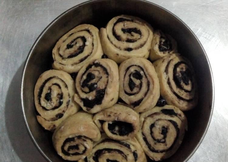 Cinnamon/Oreo-chocolatos roll (tanpa ragi dan telur)