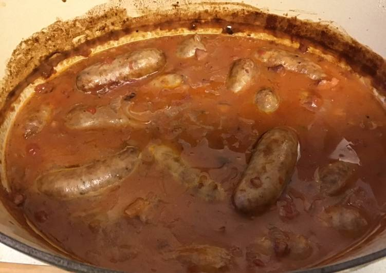 How to Prepare Top-Rated Sausage and red wine casserole #mycookbook