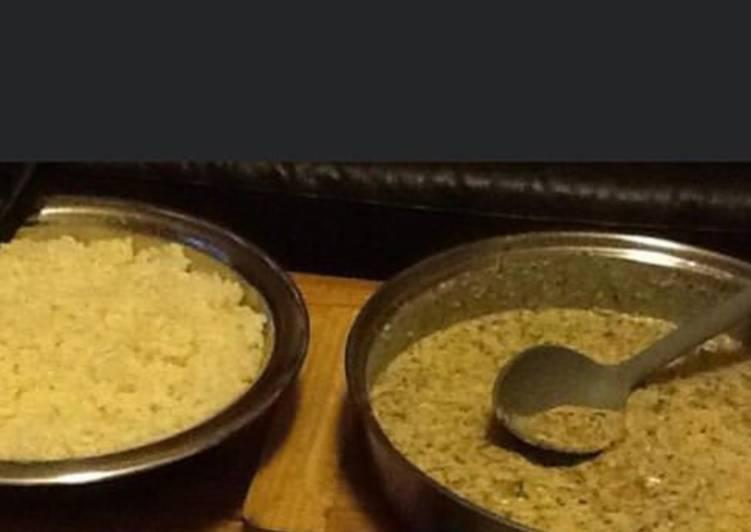 Riz basmati et sauce crème aux herbes fraîches