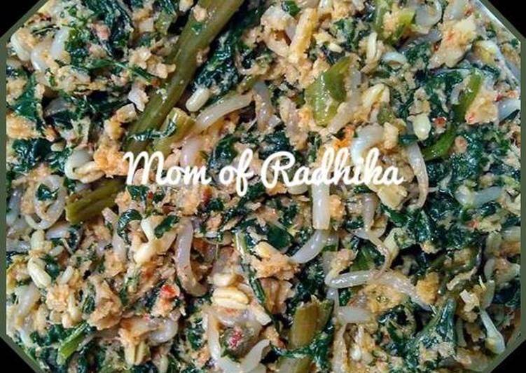 Resep Urap Sayuran (daun pepaya,kangkung,tauge) Yang Mudah Pasti Nagih