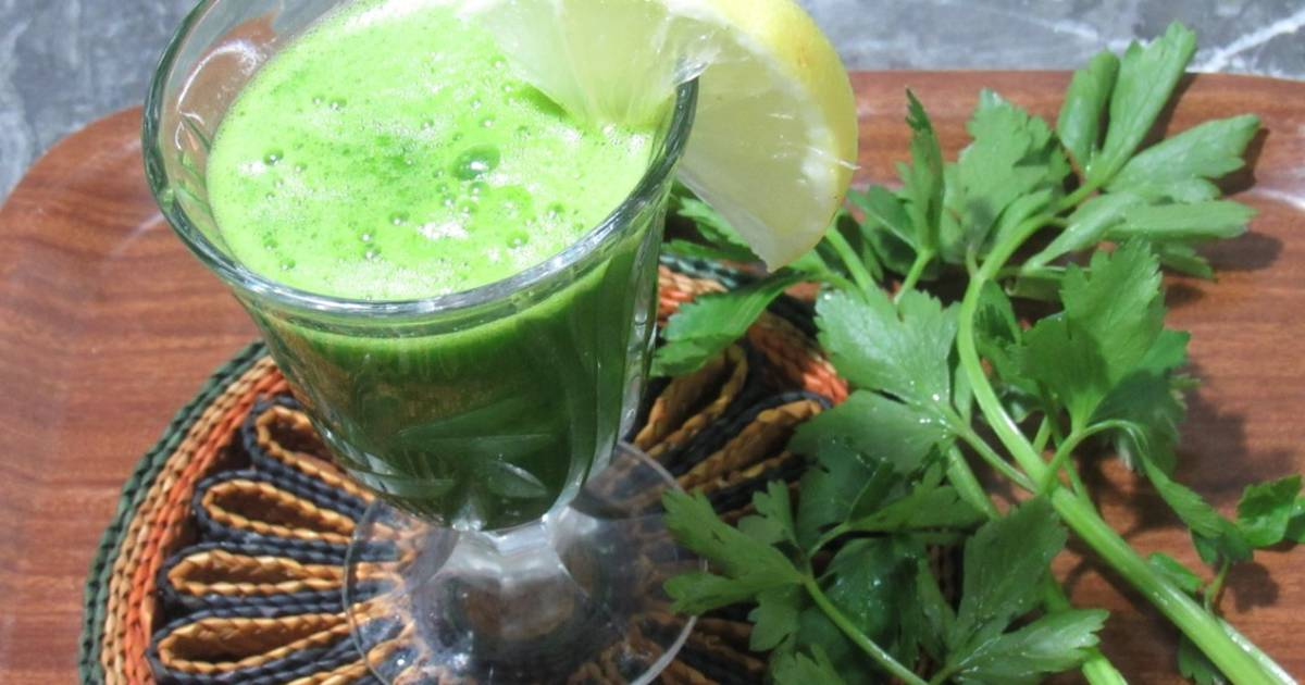 Homemade Detox Celery Juice Recipe for