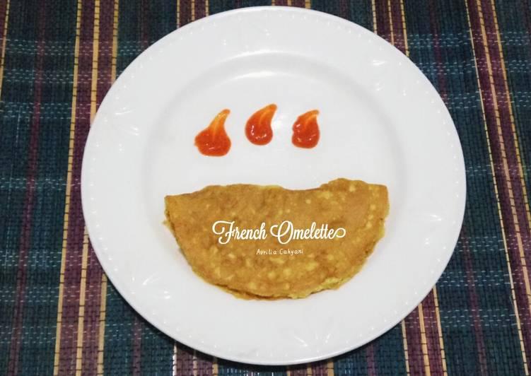 Resep Telur Dadar ala Perancis alias French Omelette Paling Enak
