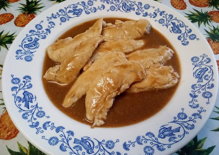 Aiguillettes de poulet sauce Robert