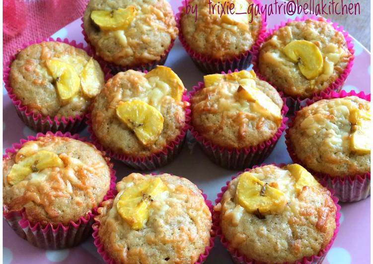 Resep Banana Muffin Paling Joss