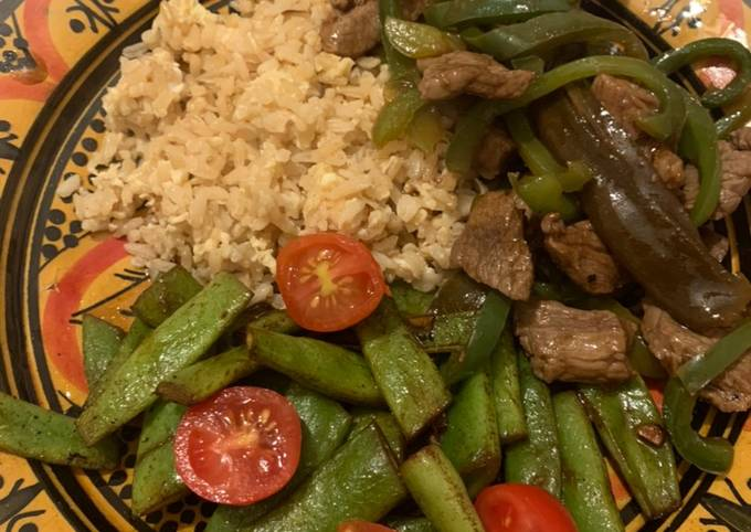 Meal Prep: Stir Fry Beef with Green Pepper