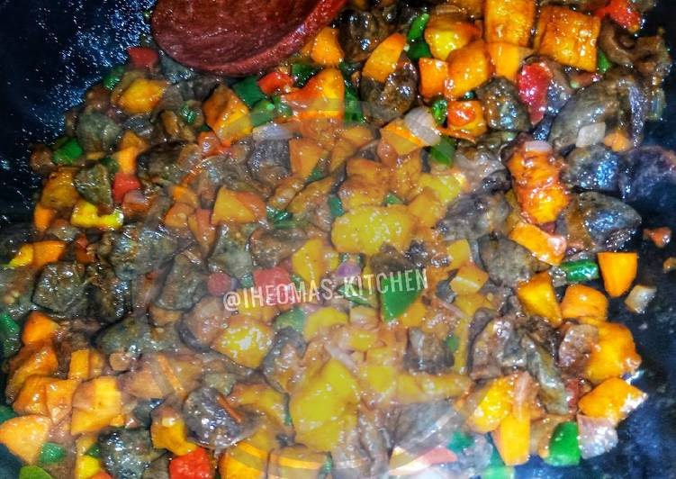 Picking The Right Foods May Help You Stay Fit As Well As Healthy DELICIOUS GIZ_LIVDODO (NIGERIAN STEWED GIZZARDS, LIVERS AND PLAN