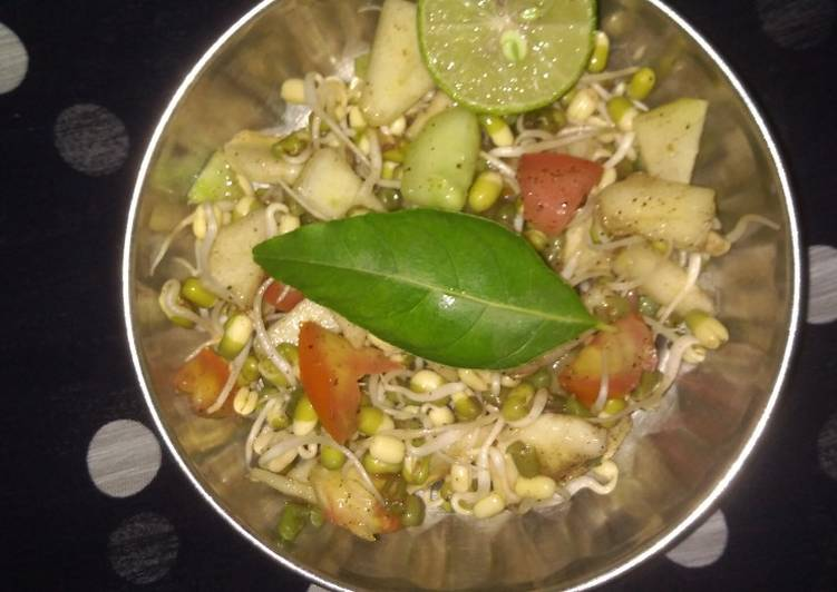 Steps to Make Favorite Satvik Sprout Chaat