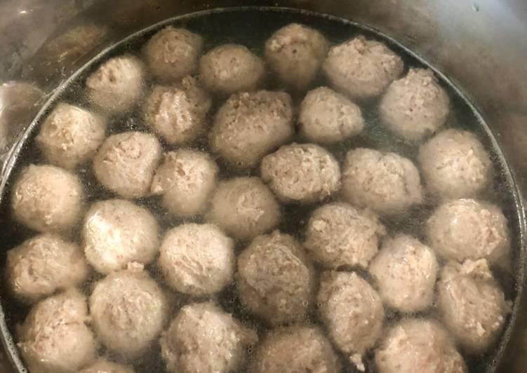 Homemade Bakso Sapi Kenyal