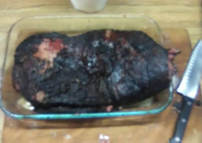 Smoked corned beef brisket