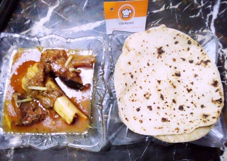 Recipe of Perfect Nalli paaye with Roti