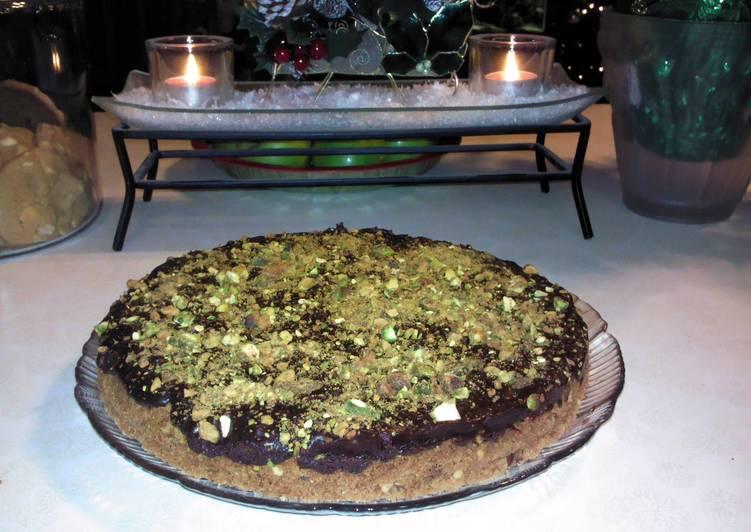 Brenda's Pistachio, Cherry and Chocolate Tart