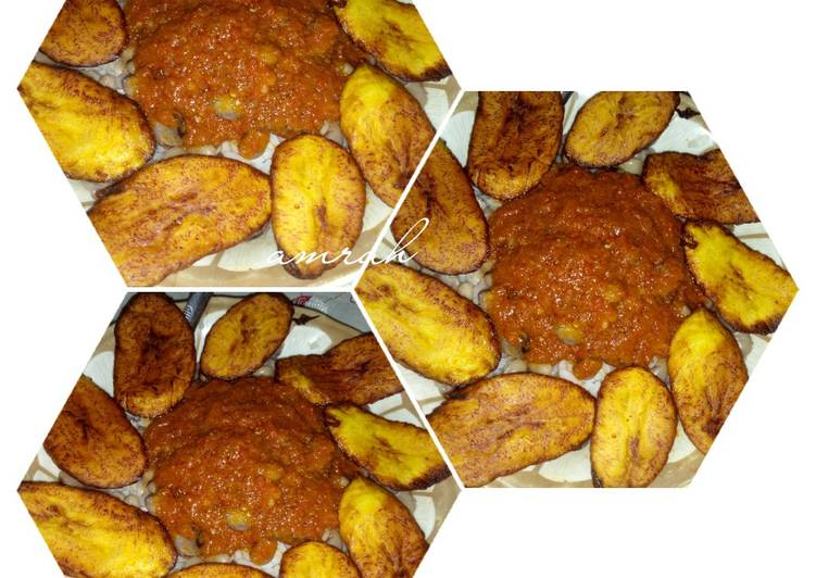 White rice with plantain