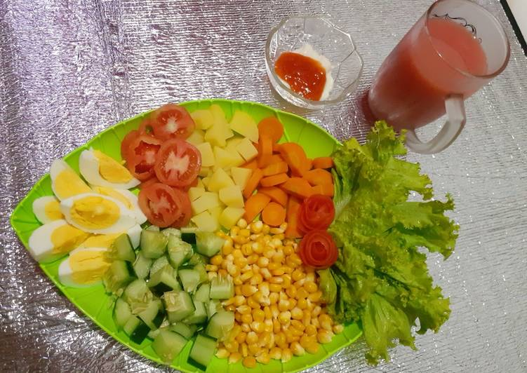 Recommended Resep Salad Sayur Ceria Spesial