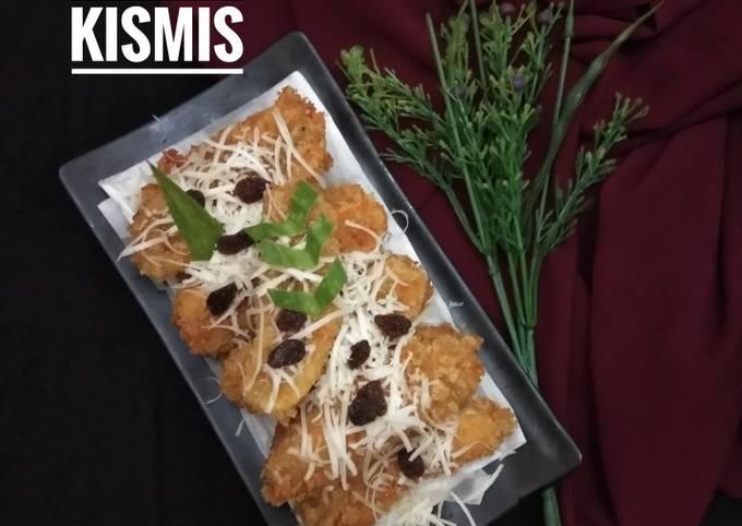 Pisang crispy keju tabur kismis