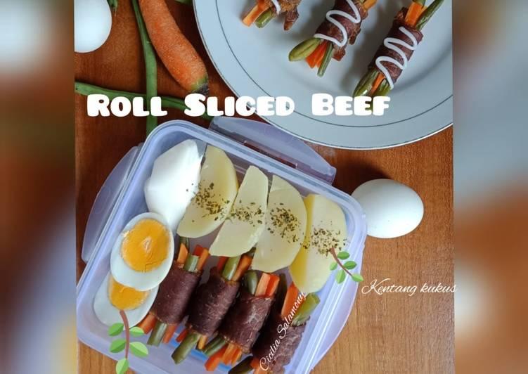 """Roll Sliced Beef"" Bekal Suami"