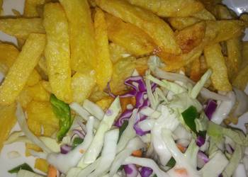 How to Cook Perfect Chips and salad