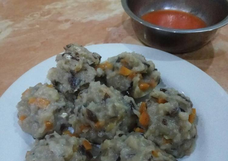 Recipe: Perfect Siomay Ikan Wortel Jamur