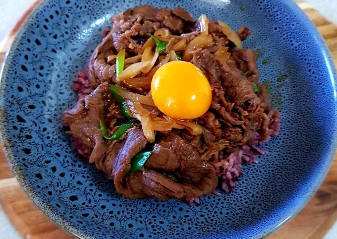 Beef Teriyaki Serve with Brown Rice