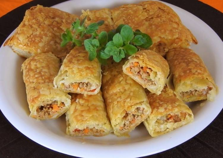 Ground Beef & Veggie Pies with Flaky Pastry