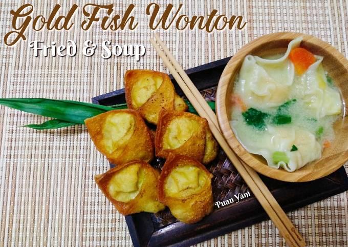 Gold Fish Wonton : Fried & Soup