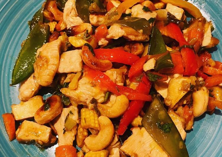 Le moyen le plus simple de Cuire Appétissante Poulet aux noix de Cajou, recette Thaï